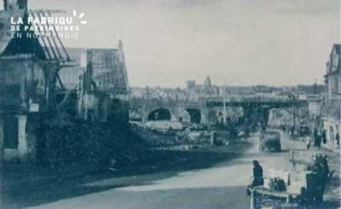 Caen detruit_1944_bas de la rue de Falaise