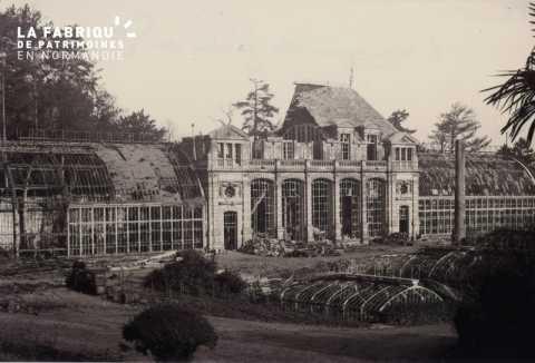 Caen detruit_1944_l'Orangerie du Jardin des Plantes