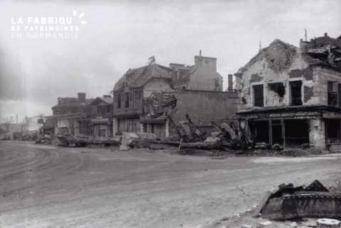 Caen detruit_1944_avenue de la Gare