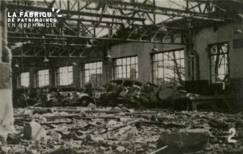 Caen detruit_1944_garage Citroen (interieur)