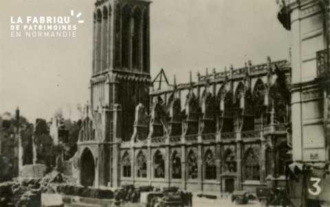 Caen detruit_1944_Eglise St Pierre