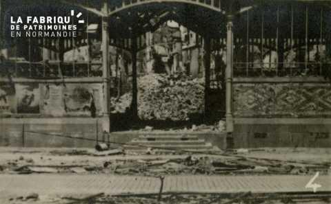 Caen detruit_1944_Marche couvert