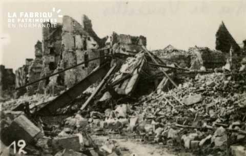 Caen détruit en 1944 - rue de Vaucelles