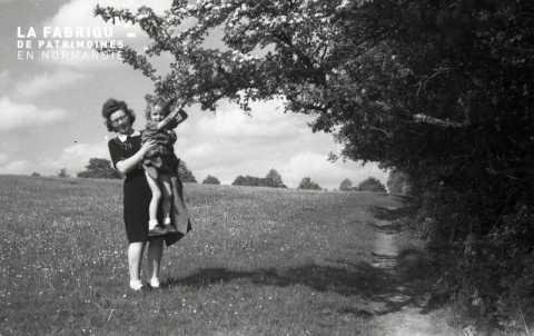 Portrait d'une femme et sa fille