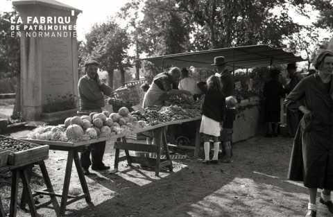 Marché de fruits et légumes