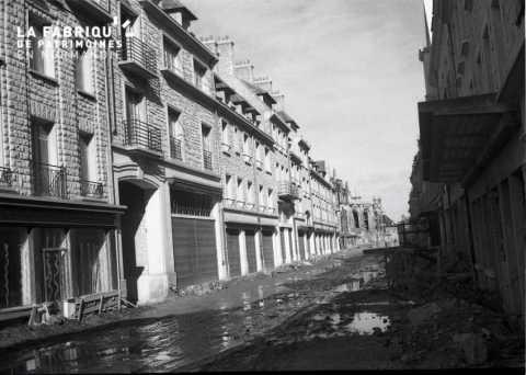 Rue inondée à Caen