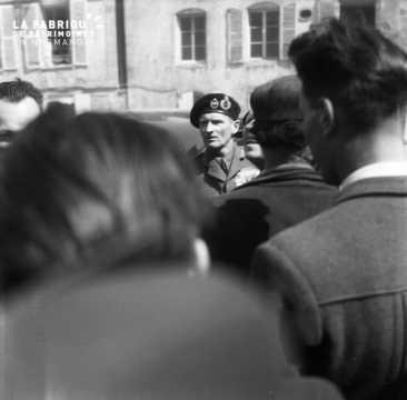 Visite du Field Marshal (maréchal) Bernard Law Montgomery à Falaise