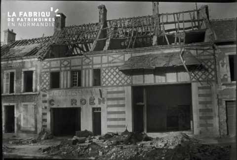Garage Citröen détruit à Falaise