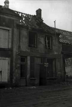Habitation bombardée