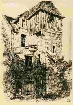 Maison de M De Bras r d'Auge XVIII ème