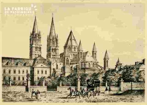 Abbaye aux hommes et personnages.Pl Guilloire