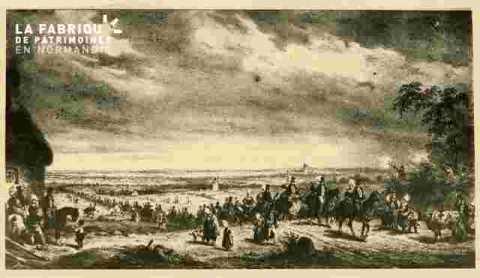 Paysage avec personnages et cavaliers