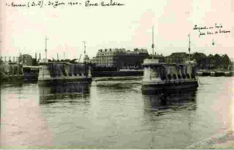 Le pont Boeldieu 30/06/40