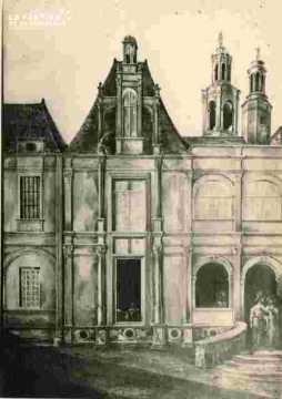 H.d'Escoville cour intérieure 1833
