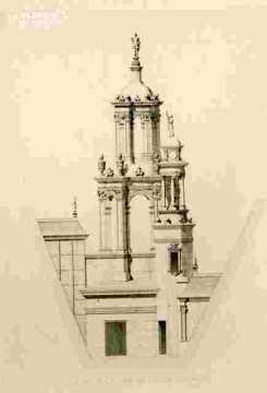 H.d'Escoville.Détail de la lanterne du gd escalier