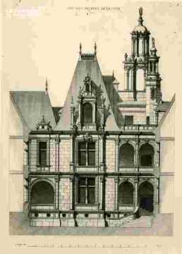 H.d'Escoville.Une des façades de la cour