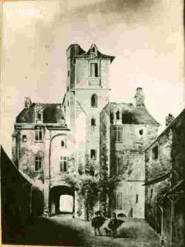 Maison des Quatrans.r de Geole.Escalier  1832