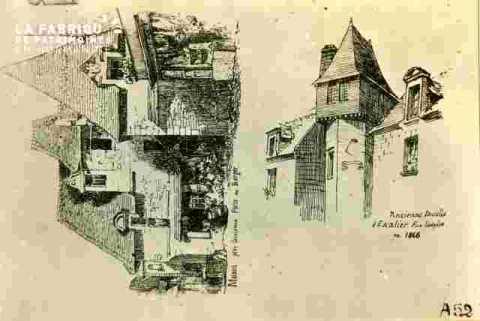Ancienne tourelle d'escalier.r Ecuyère       1846