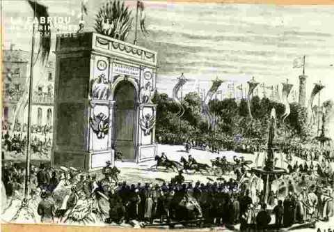 Réception de Napoléon III Pl Alexandre III