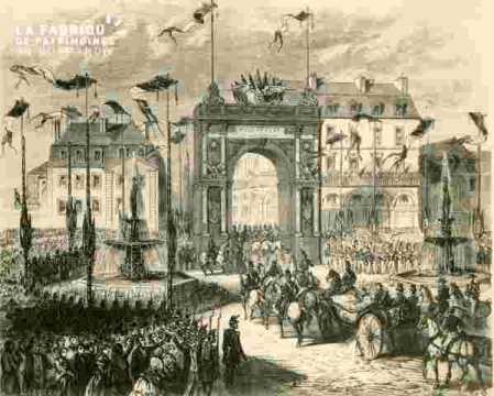 Réception de Napoléon III  Lieu non indiqué