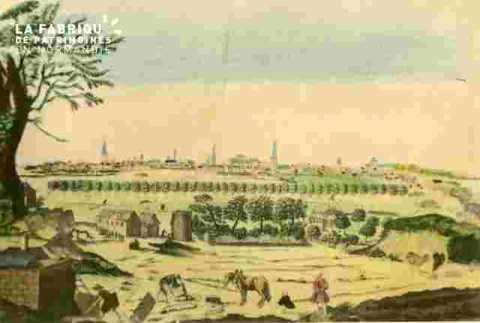 Vue de la Généralité .a/c de la prairie, coloriée