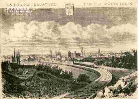 Vue de la Généralité .avec train.LaFr.illustrée