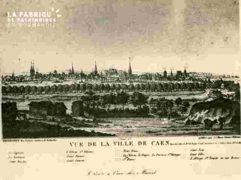 Vue de la Géné. .frontispice lettres de Malherbe