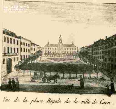 Vue de la place Royale de Caen