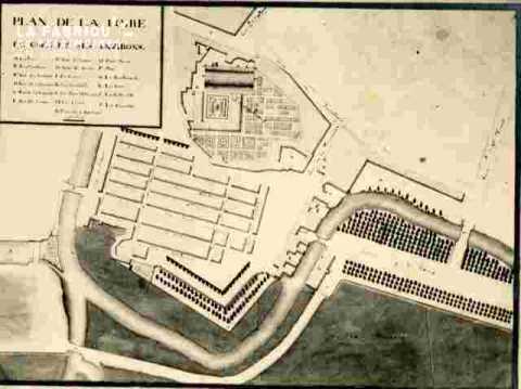Plan de la Foire de Caen et ses environs