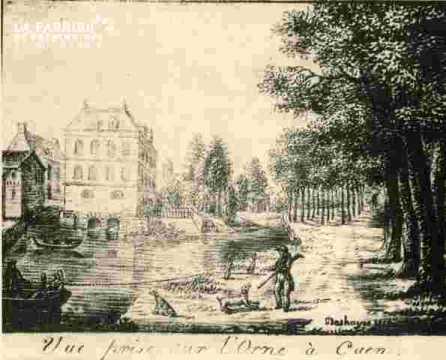 Vue prise sur l'Orne à Caen