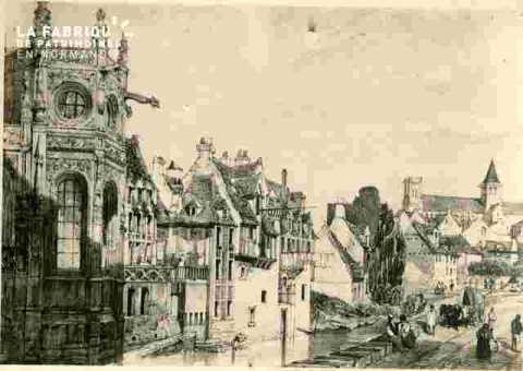 Abside Saint Pierre et rue des quais