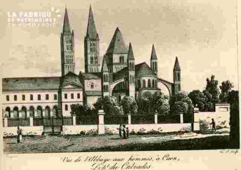 Saint Etienne.Vue de l'Abbaye ax hommes BMC