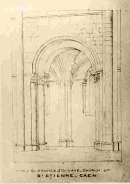 Saint Etienne. One of the Arches of the Nave BMC