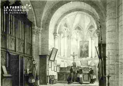Saint Etienne.  Sacristie et Choeur              BMC
