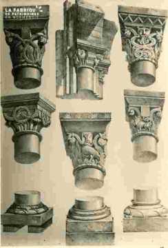 Saint Etienne. Chapiteaux, bas de piliers      BMC