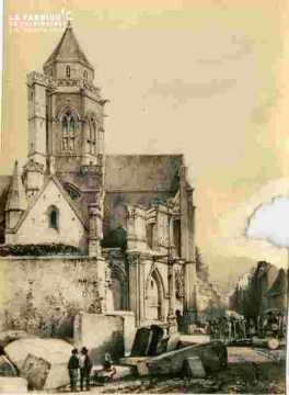 Saint Etienne le Vx.Clocher.Très abimé