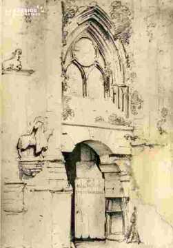 Saint Etienne le Vx.Très abimé.Entrée latérale