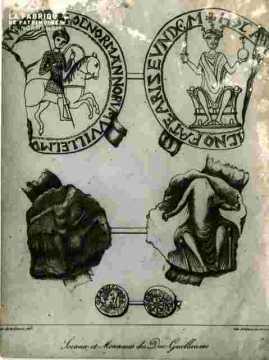 Sceaux  & Monnaies  du Duc Guillaume.abimé
