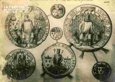 Sceaux  Université et des rois fondateurs.abimé