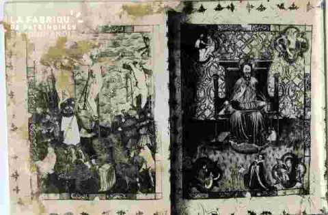 Couvertures de livres anciens Christs .Abimé