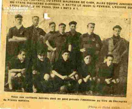 Eq du Lycée Mal (juniors) v Lycée Henri IV Paris 5-1