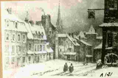 Saint Pierre.    Caen  sous la neige.Collect  M Devaud         BMC