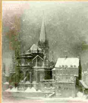 Saint Pierre.  Saint  Pierre sous la neige           Coll Part