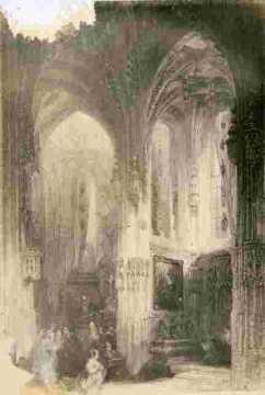 Saint Pierre. Autel de la Vierge, très abimé     BMC