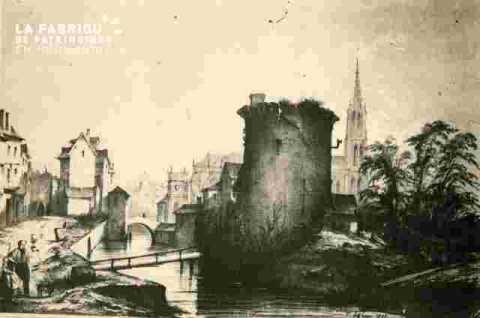 Saint Pierre. Abside, pont et port,  colorié       BMC