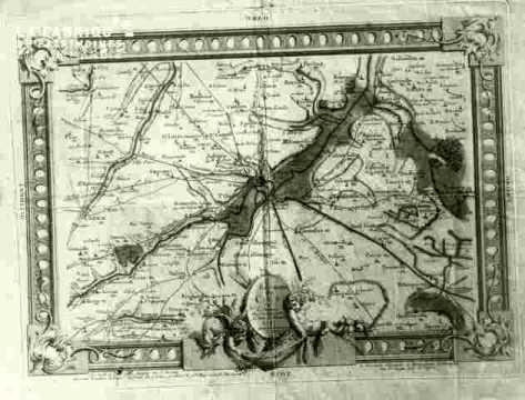 Carte de Caen et environs