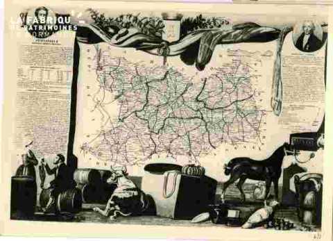 Carte du Calvados sous Louis-Philippe