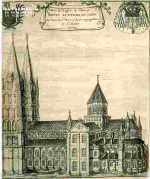 Abbaye de Saint Etienne.Vue de l'église