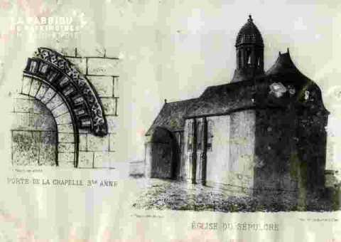 Eglise du Sépulcre et Porte de la Chapelle Ste Anne abimé