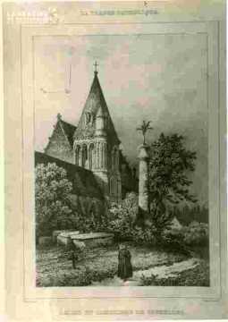 """Eglise de Vaucelles et cimetière.""""""""La France Catholique"""""""""""